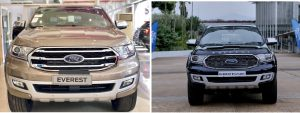 So sánh Ford Everest 2020 và Ford Everest 2021