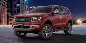 Ford Everest 2021 thay đổi ngoại thất thêm phần nam tính